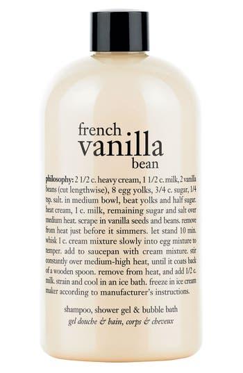 Philosophy 'French Vanilla Bean' Shampoo, Shower Gel & Bubble Bath