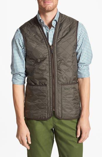 Men's Barbour 'Polarquilt' Relaxed Fit Zip-In Liner Vest