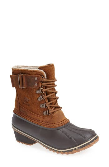 Women's Sorel 'Winter Fancy Ii' Waterproof Lace-Up Boot, Size 5.5 M - Brown