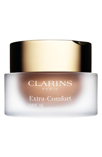 Clarins Extra-Comfort Anti-Aging Foundation Spf 15, Size 1.1 oz - 112-Amber