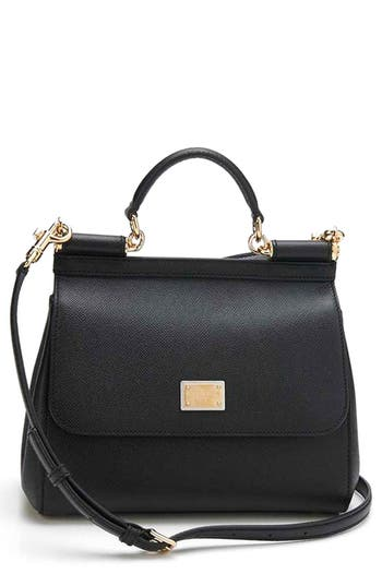 Dolce&gabbana 'Small Miss Sicily' Leather Satchel -