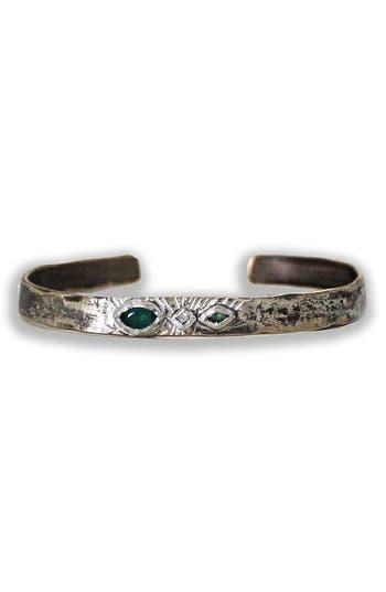 Women's Franny E Jewelry Emerald & Diamond Cuff Bracelet