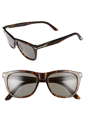 Women's Tom Ford Andrew 54Mm Sunglasses - Havana/ Green Horn/ Green