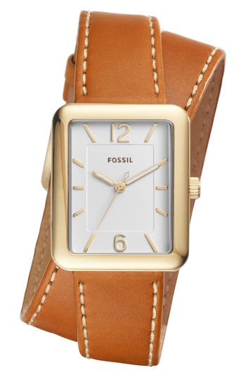 Women's Fossil Atwater Leather Strap Watch, 28Mm