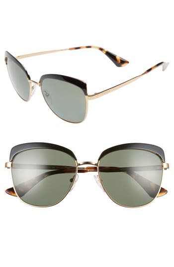 Women's Prada 56Mm Polarized Sunglasses -