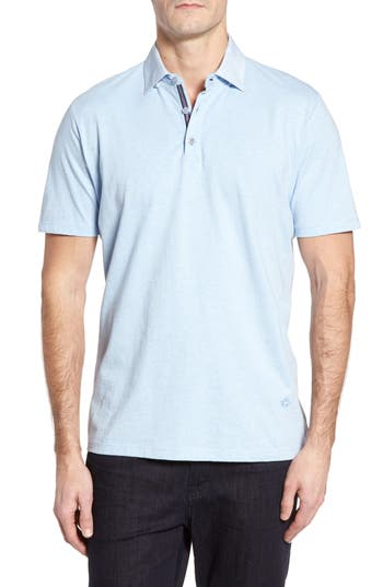 Men's Stone Rose Floral Collar Jersey Polo