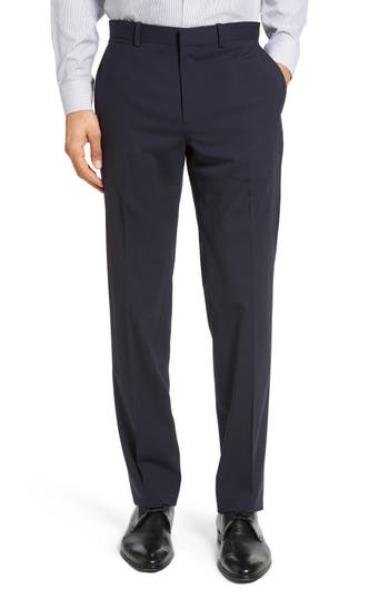 Men's Theory Marlo New Tailor 2 Flat Front Solid Stretch Wool Trousers