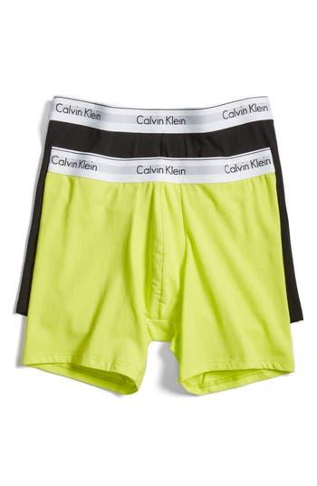 Men's Calvin Klein Modern Assorted 2-Pack Stretch Cotton Boxer Briefs