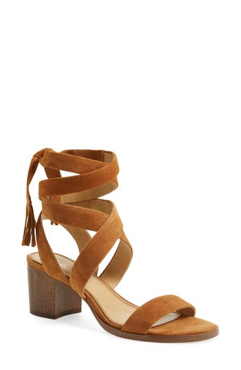 Women's Splendid Janet Block Heel Sandal, Size 5.5 M - Brown