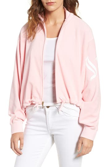 Women's Juicy Couture Velour Batwing Track Jacket, Size X-Small - Pink