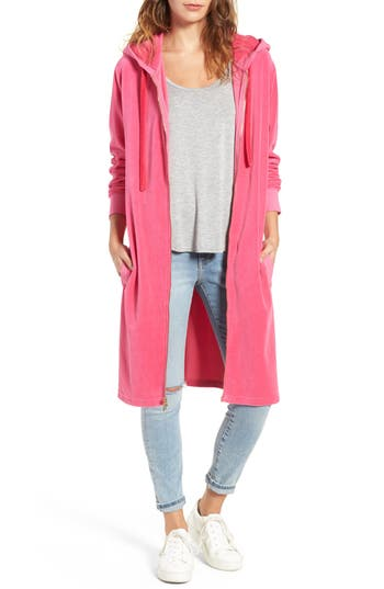 Women's Juicy Couture Longline Velour Hoodie