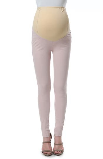 Kimi And Kai Sadie Over The Belly Maternity Denim Leggings, Pink