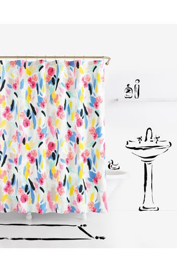 Kate Spade New York Paintball Floral Shower Curtain