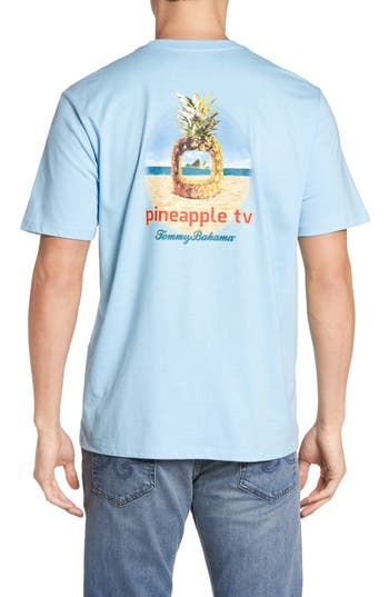 Men's Big & Tall Tommy Bahama Pineapple Tv Graphic T-Shirt, Size 1XB - Blue