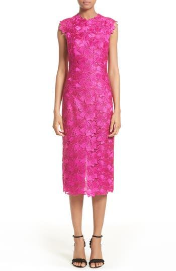 Women's Monique Lhuillier Lace Sheath Dress