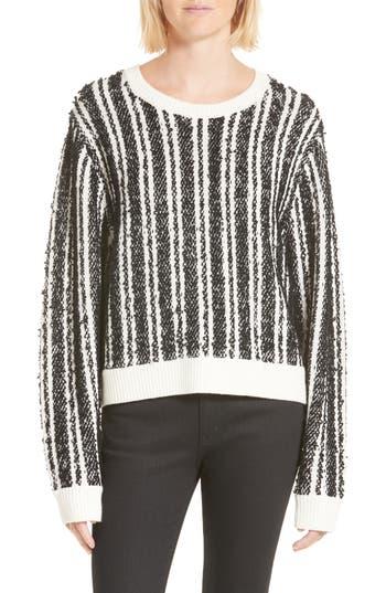 Women's Public School Nabila Stripe Sweater, Size X-Small - Black