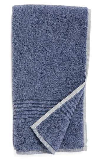 Nordstrom At Home Organic Hydrocotton Heathered Hand Towel, Size One Size - Blue