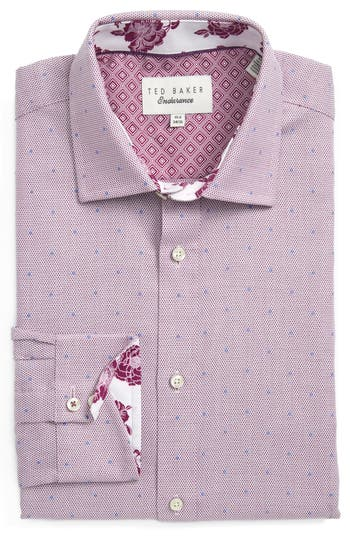 Men's Big & Tall Ted Baker London Trim Fit Dot Dress Shirt