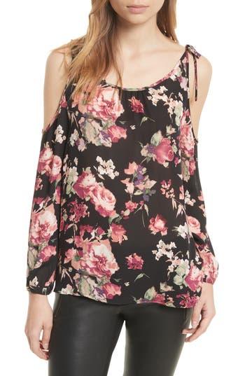 Women's Joie Jilette Cold Shoulder Floral Silk Top
