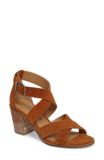 Women's Lucky Brand Kesey Block Heel Sandal, Size 6 M - Brown