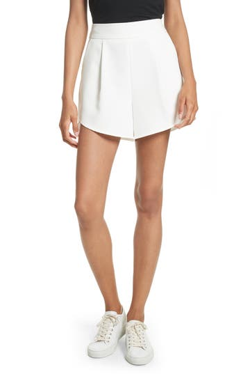 Women's Milly Stretch Woven Shorts, Size 12 - White