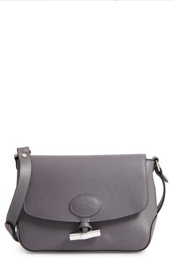 Longchamp Roseau Leather Crossbody Bag - Grey