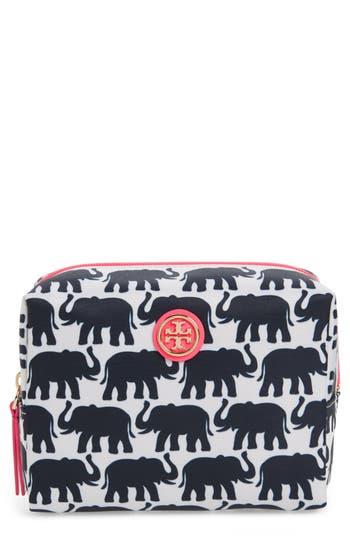 Tory Burch Brigitte Nylon Cosmetics Case, Size One Size - Elephant