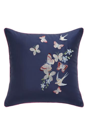 Ted Baker London Butterfly Embroidered Accent Pillow, Size One Size - Blue