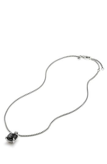 Women's David Yurman Châtelaine Pendant Necklace With Black Onyx And Diamonds