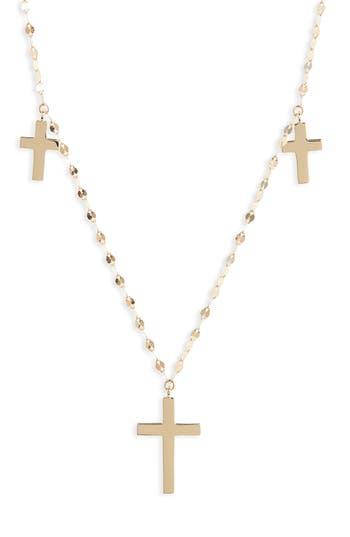 Women's Lana Jewelry Bond Triple Cross Charm Necklace
