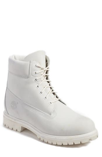 Men's Timberland 'Six Inch Classic Boots Series - Premium' Boot, Size 9.5 M - White