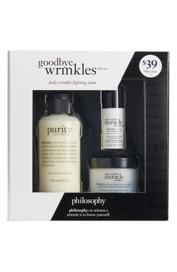 philosophy goodbye wrinkles set ($86 Value)
