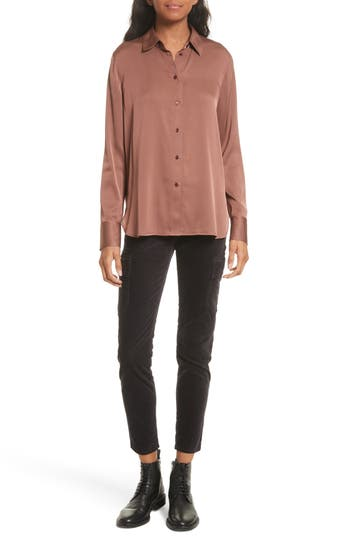 Women's Vince Slim Stretch Silk Blouse