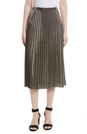Women's Tracy Reese Metallic Pleated Skirt