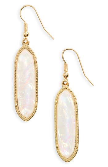 Women's Bp. Stone Oval Drop Earrings