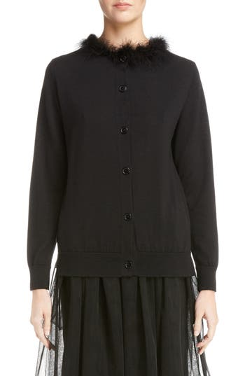 Women's Simone Rocha Beaded Floral Quilted Parka, Size 0 US / 4 UK - Black