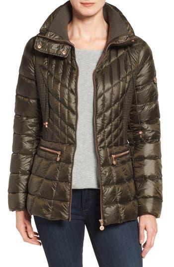 Bernardo Packable Jacket With Down & Primaloft Fill, Green