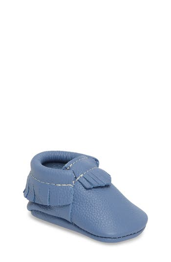 Infant Freshly Picked Classic Moccasin, Size 1 M - Blue