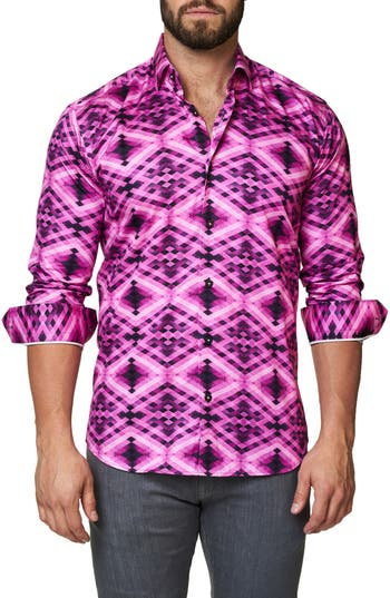 Men's Maceoo Luxor Slim Fit Geo Print Sport Shirt