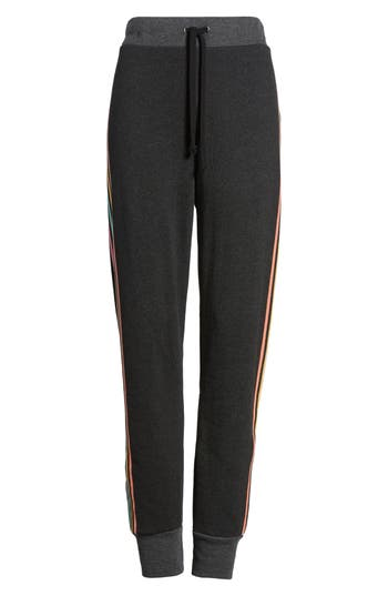 Women's Wildfox '80S Track Star Knox Sweatpants, Size Large - Black