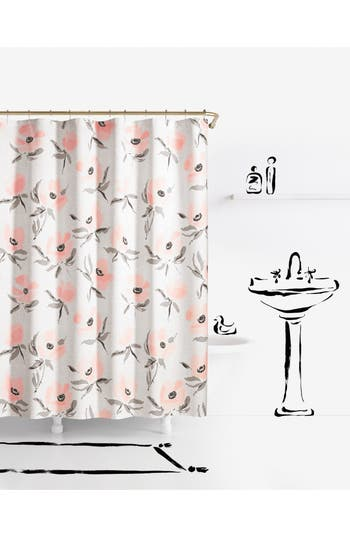 Kate Spade New York Poppies Shower Curtain, Size One Size - Pink