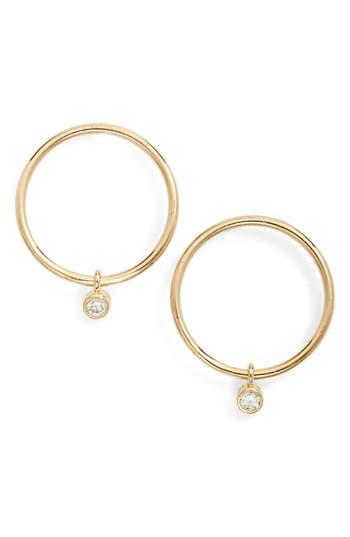 Zoe Chicco Diamond Small Frontal Hoop Earrings