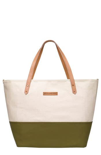Infant Petunia Pickle Bottom 'Downtown' Canvas Diaper Tote - Beige