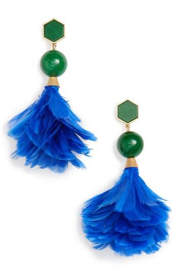 Women's Tory Burch Feather Drop Earrings