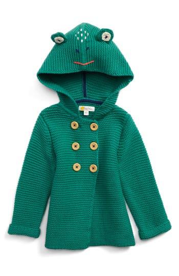 Toddler Boy's Mini Boden Wild Animal Knit Jacket, Size 0-3M - Green