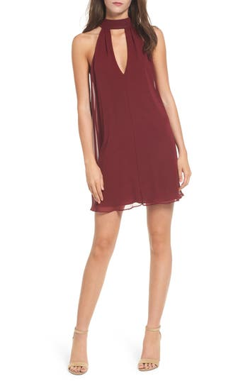 Women's Soprano Lace-Up Swing Dress, Size X-Large - Burgundy