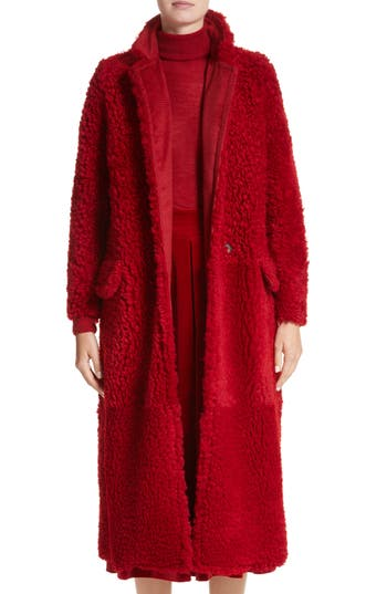 Max Mara Koala Genuine Shearling Coat