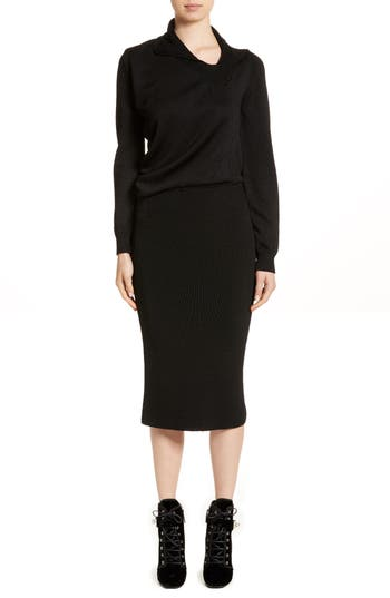 Women's Atlein Drape Knit Dress