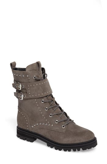 Marc Fisher Ltd Josette Belted Moto Boot, Grey