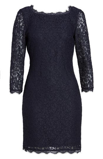 Women's Adrianna Papell Lace Overlay Sheath Dress